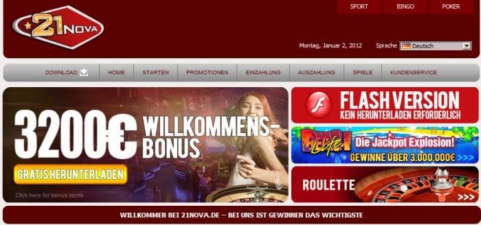 21 nova casino gutscheincode