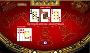 3 Card Poker beim Yukon Gold Casino