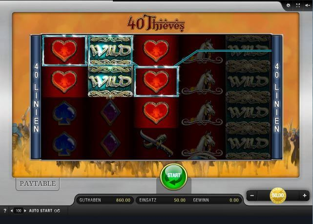 40 Thieves Spielautomat - Spielen Sie gratis Online
