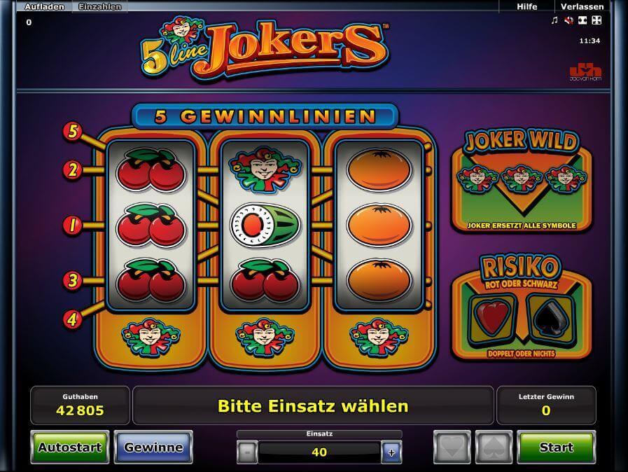 online casino novoline joker online