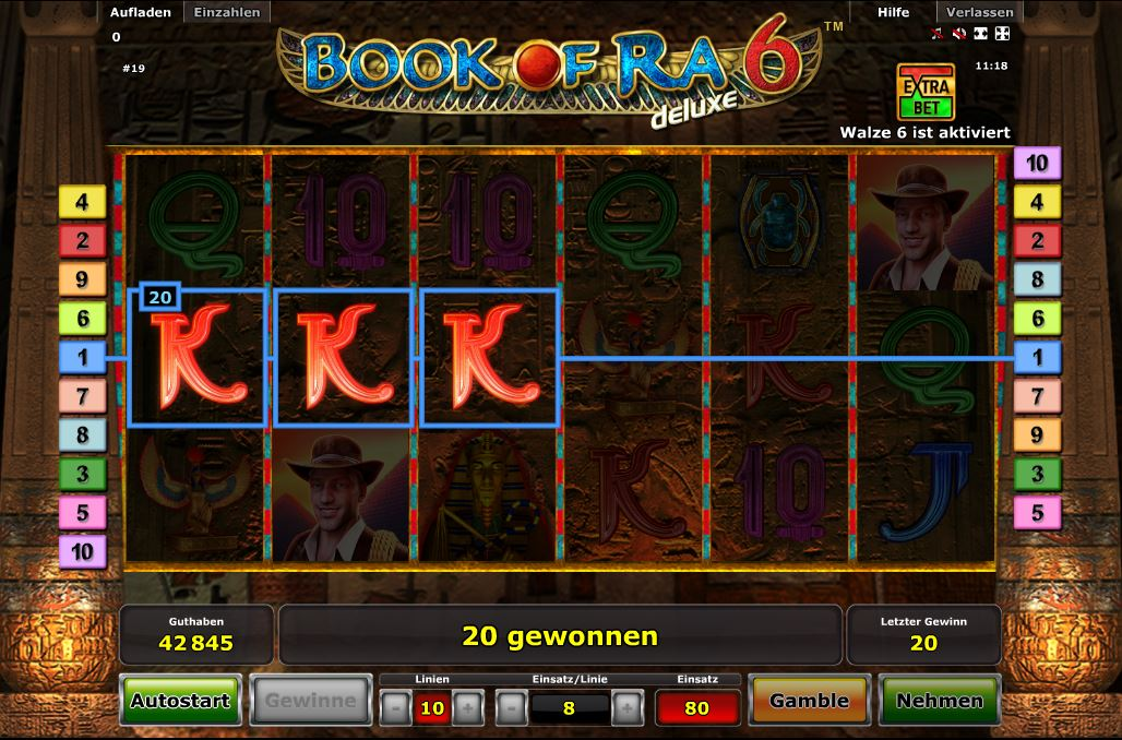 start online casino book of ra spielen