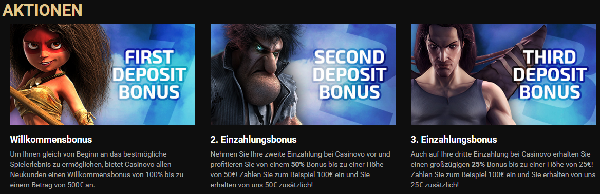 Casinovo Bonusangebot
