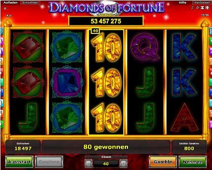 Diamonds of Fortune kostenlos
