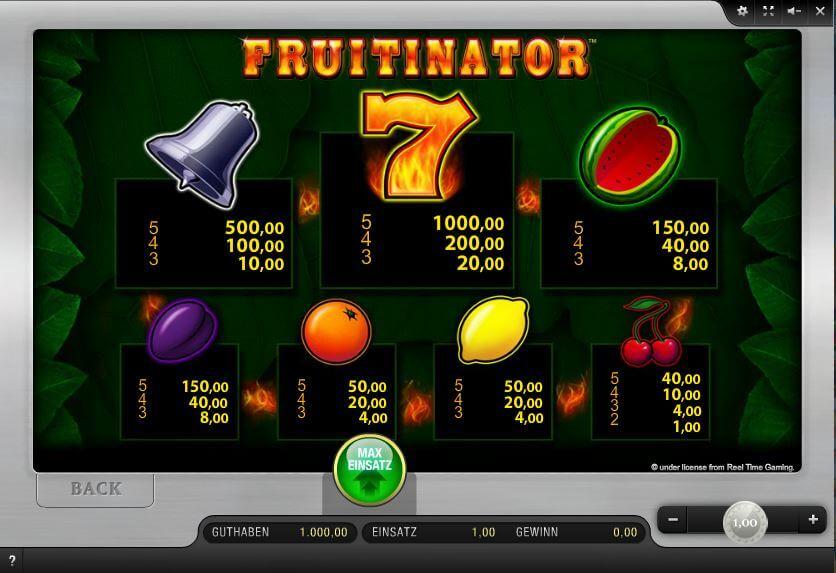 merkur fruitinator online spielen