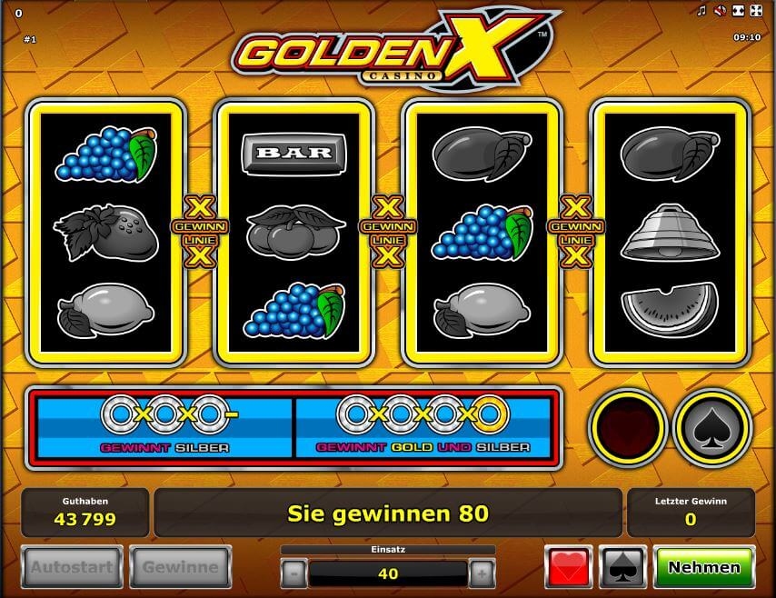 Golden X Casino Novoline