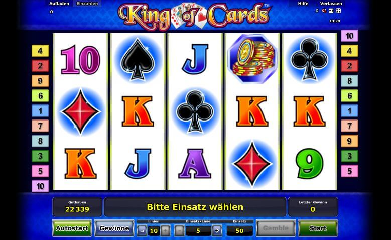 online casino novoline king of cards