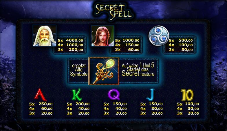 Secret Spell online spielen