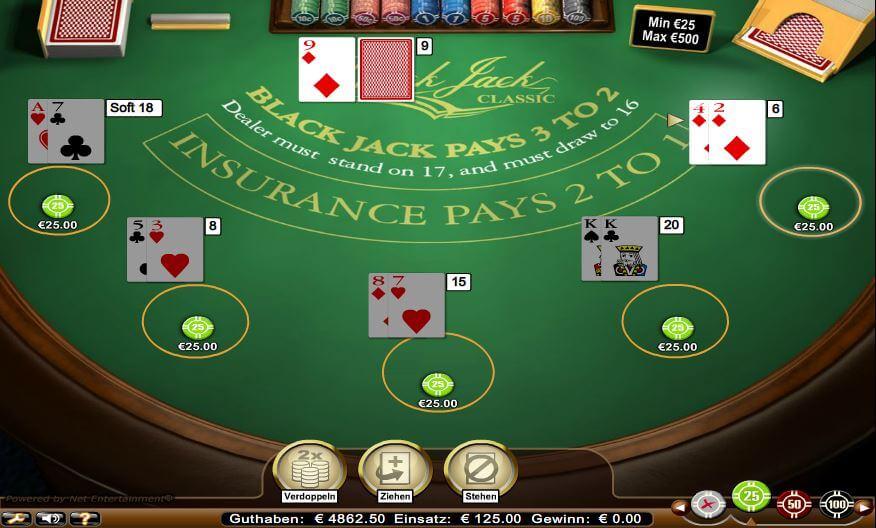 wie spielt man blackjack im casino