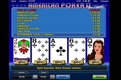 test online casino american poker
