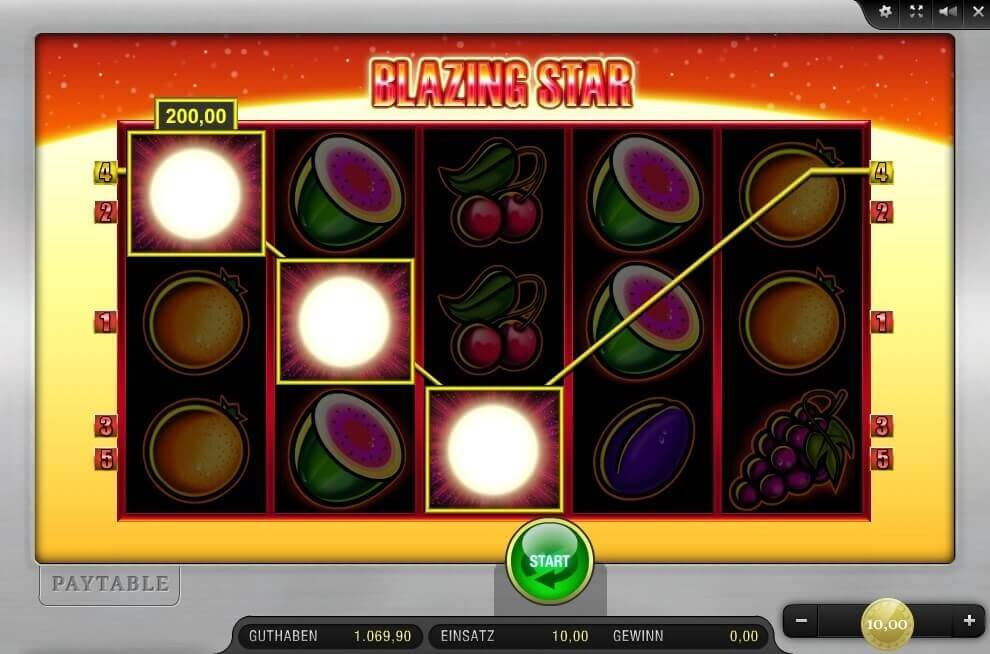 Blazing Star im Sunmaker Casino