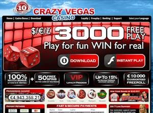 Crazy Vegas Casino Bonus