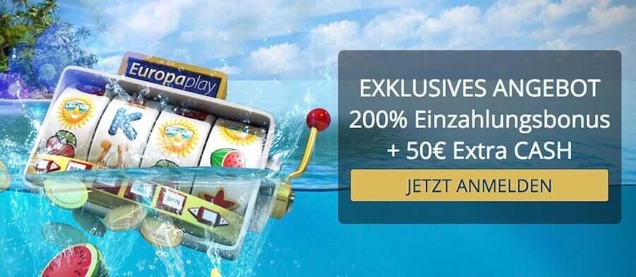 europaplay casino bonus code