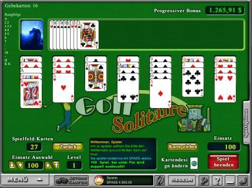 Golf Solitaire im Everest Casino