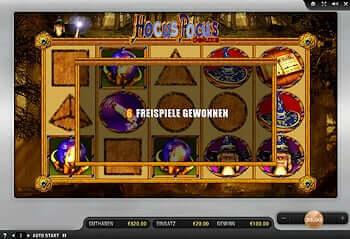 Der Hocus Pocus Deluxe Spielautomat von Merkur jetzt online.
