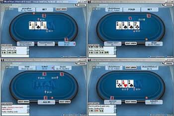 Mehreren Tischen spielen