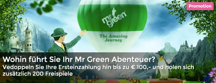 Bis zu € 100,- Bonus. Spielen Sie Mr Greens Jackpotspiele