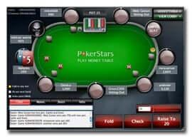 Tisch beim Pokerstars
