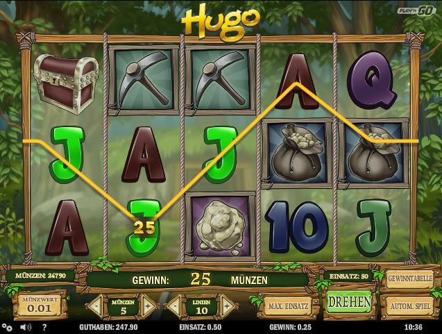Hugo Slot online spielen