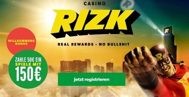Rizk Bonus - Die Power Bar - Rizk Online Casino
