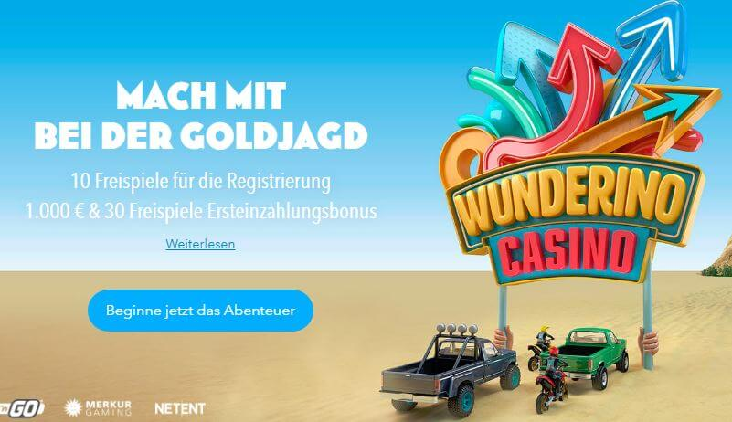 Wunderino Casino Bonusangebot