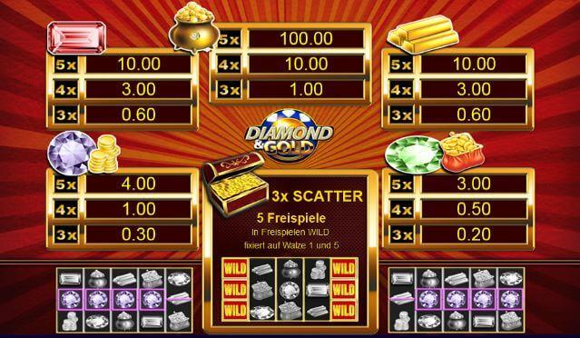 diamond and gold spielen