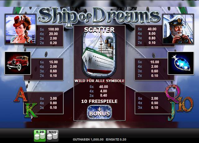 Ship of Dreams online spielen