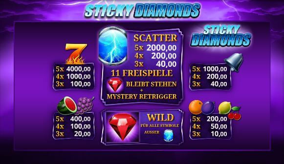 Sticky Diamonds online spielen