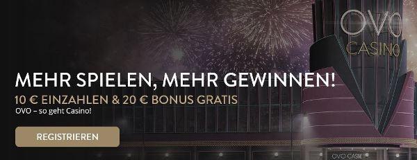 OVO Casino Bonuscode
