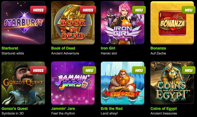 Mobilebet Casino Spiele