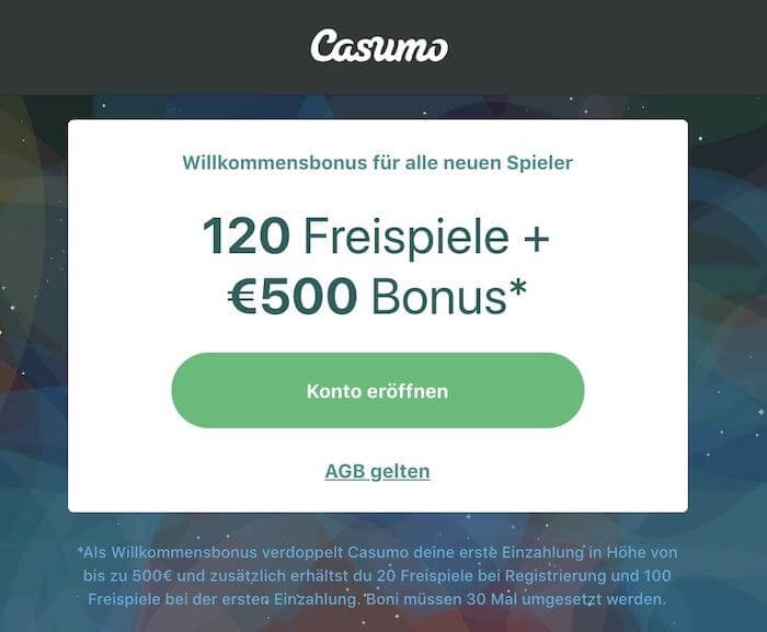casumo casino bonus