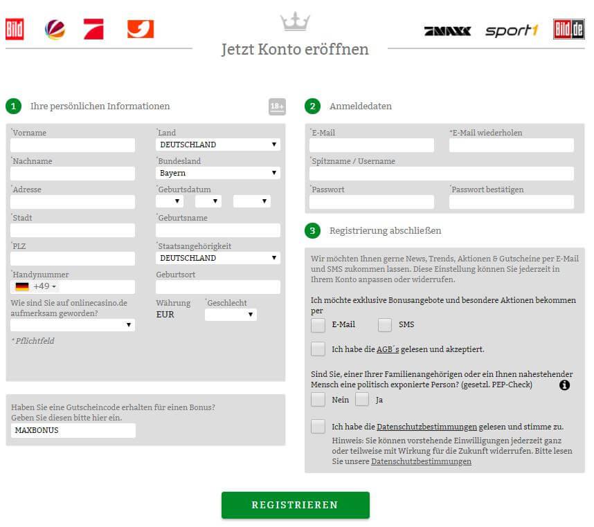 OnlineCasino.de bonus code
