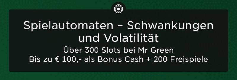 Spielautomaten Tricks –Volatilität bei Mr Green