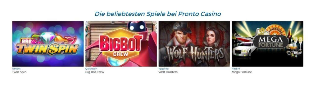 Pronto Casino Bonuscode