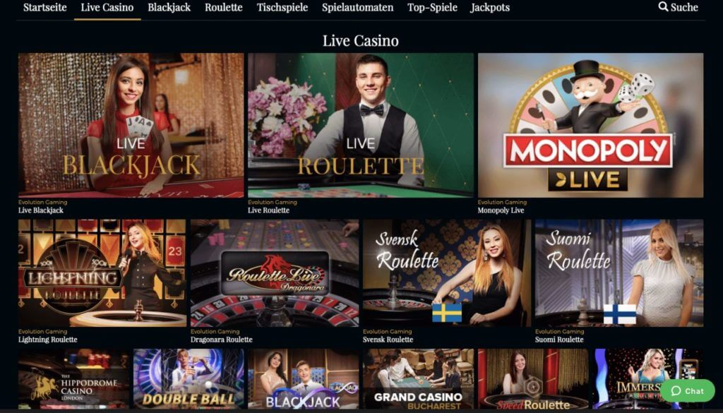 Premier Live Casino Blackjack