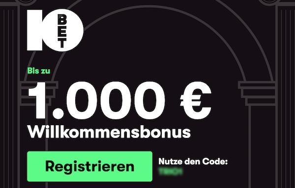 10bet casino bonus code