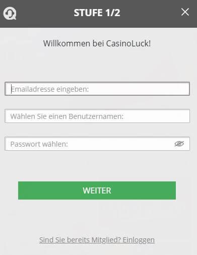 Casino Luck Anmeldung