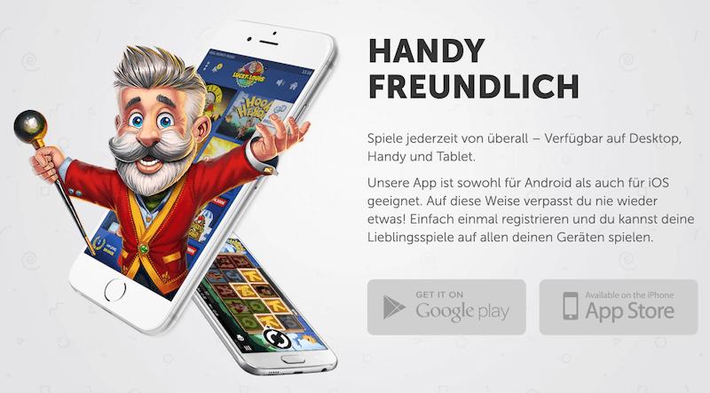 luckylouis mobile app