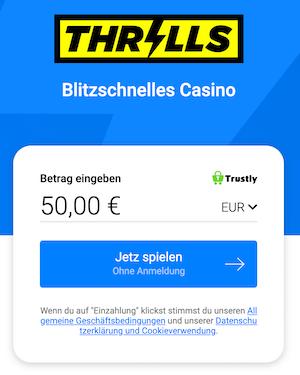thrills casino einzahlung