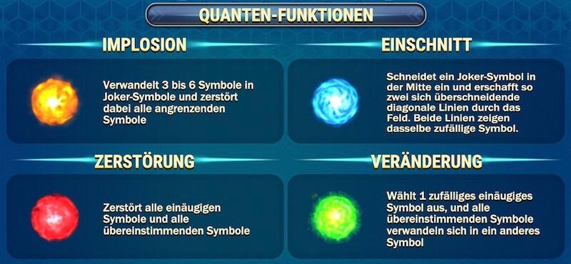reactoonz quanten-funktionen