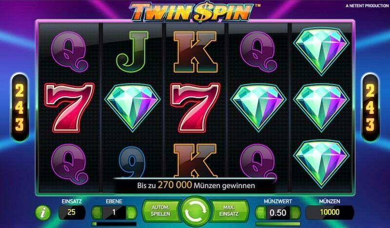 Twin Spin Gewinnwege