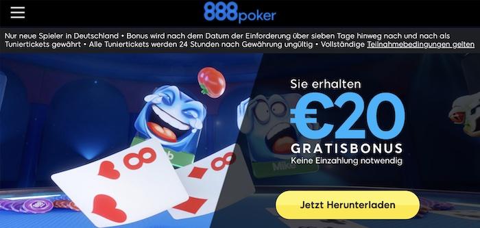 888Poker No Deposit Bonus