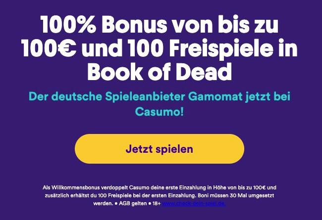casumo bonus und freispiele