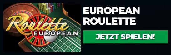 Europäisches Roulette spielen