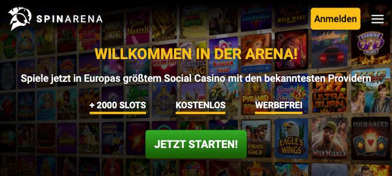 spinarena social casino
